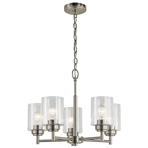 Winslow Brushed Nickel 20-Inch Five-Light Chandelier