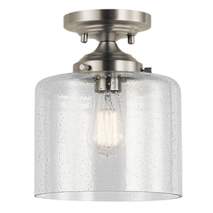 Winslow Brushed Nickel 9-Inch One-Light Semi-Flush Mount