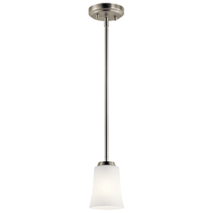 Tao Brushed Nickel 5-Inch One-Light Mini Pendant
