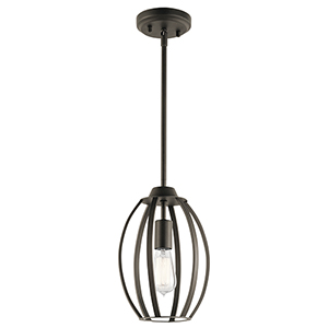 Tao Olde Bronze 8-Inch One-Light Mini Pendant