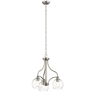 Harmony Brushed Nickel 22-Inch Three-Light Chandelier