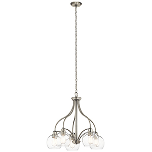 Harmony Brushed Nickel 26-Inch Five-Light Chandelier