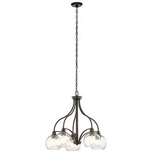 Harmony Olde Bronze 26-Inch Five-Light Chandelier
