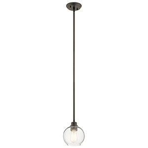 Harmony Olde Bronze 7-Inch One-Light Mini Pendant