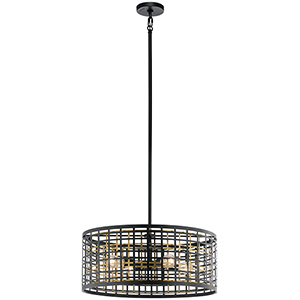 Aldergate Black 24-Inch Four-Light Pendant