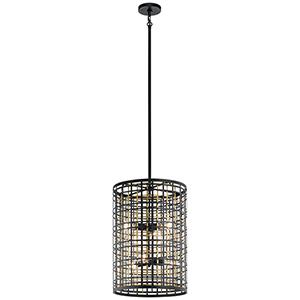 Aldergate Black 16-Inch Six-Light Foyer Pendant