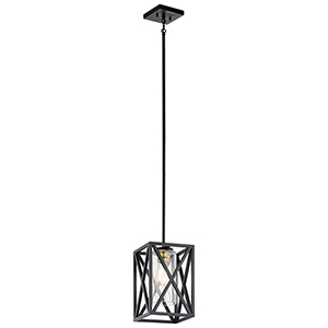 Moorgate Black 8-Inch One-Light Mini Pendant