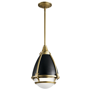 Ayra Natural Brass 10-Inch One-Light Mini Pendant