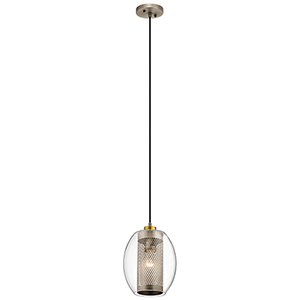 Asher Antique Pewter 9-Inch One-Light Mini Pendant