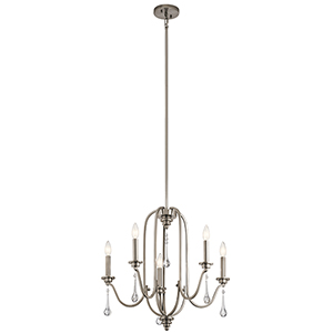 Karlee Classic Pewter 24-Inch Five-Light Chandelier