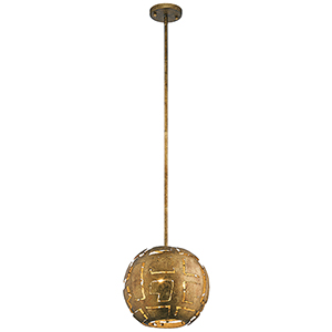 Shefali Pharaoh Gold 13-Inch Three-Light Pendant