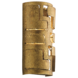 Shefali Pharaoh Gold 7-Inch Two-Light Wall Sconce