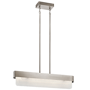 Serene Classic Pewter 6-Inch LED Linear Pendant