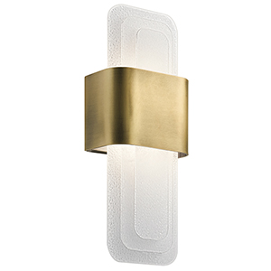 Serene Natural Brass 7-Inch LED Wall Sconce