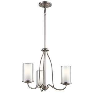 Lorin Classic Pewter 19-Inch Three-Light Chandelier