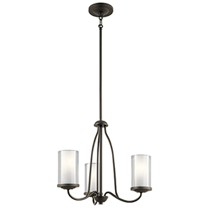 Lorin Olde Bronze 19-Inch Three-Light Chandelier