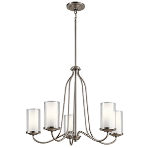 Lorin Classic Pewter 25-Inch Five-Light Chandelier