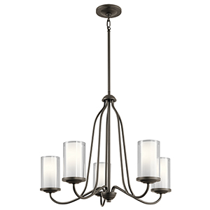 Lorin Olde Bronze 25-Inch Five-Light Chandelier