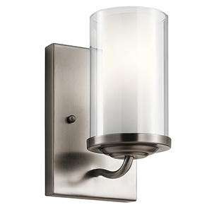 Lorin Classic Pewter 5-Inch One-Light Wall Bracket