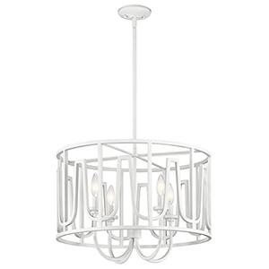 Sutton White 22-Inch Four-Light Pendant