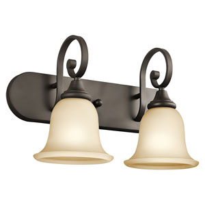 Monroe Olde Bronze Two-Light Bath Fixture