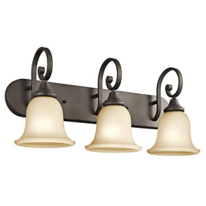 Monroe Olde Bronze Three-Light Bath Fixture