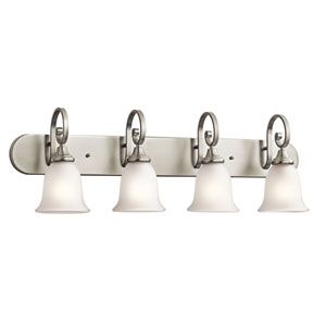 Monroe Four-Light Brushed Nickel Bath Fixture