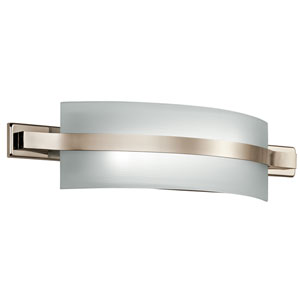 Freeport Polished Nickel One-Light LED Bath Bar