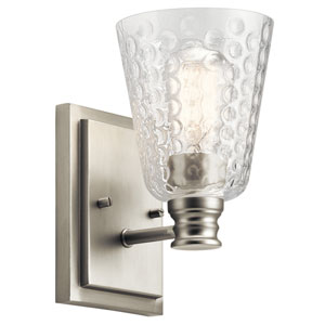 Nadine Brushed Nickel 5-Inch One-Light Wall Sconce