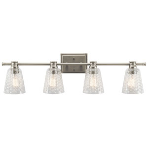 Nadine Brushed Nickel 35-Inch Four-Arm Bath Light