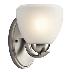 Family Space Brushed Nickel One-Light Wall Sconce