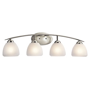 Calleigh Brushed Nickel Four-Light Bath Fixture