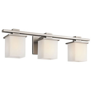 Tully Antique Pewter Three-Light Bath Fixture