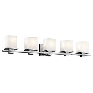 Tully Chrome Five-Light Bath Sconce
