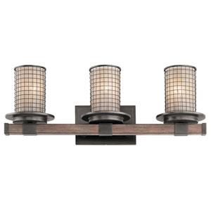 Ahrendale Anvil Iron 24-Inch Three-Arm Bath Light