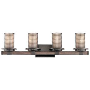 Ahrendale Anvil Iron 33-Inch Four-Arm Bath Light