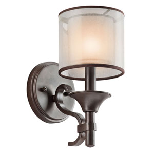 Lacey Mission Bronze One-Light Wall Sconce