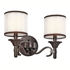 Lacey Mission Bronze Two-Light Bath Fixture