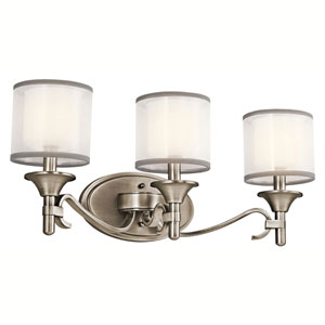 Lacey Antique Pewter Three-Light Bath Fixture