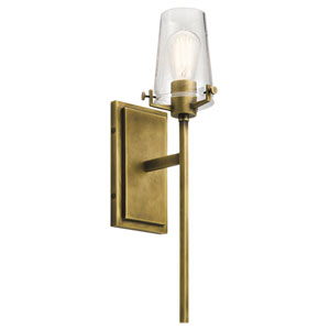 Alton Natural Brass 5-Inch One-Light Wall Sconce