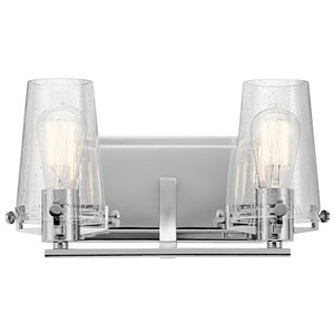 Alton Chrome 14-Inch Two-Arm Bath Light