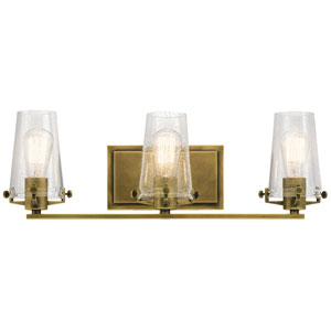 Alton Natural Brass 24-Inch Three-Arm Bath Light