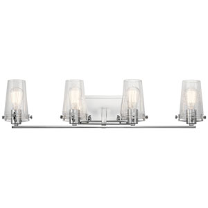 Alton Chrome 34-Inch Four-Arm Bath Light