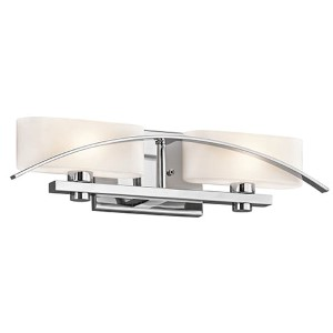 Suspension Chrome Two-Light Bath Vanity Fixture