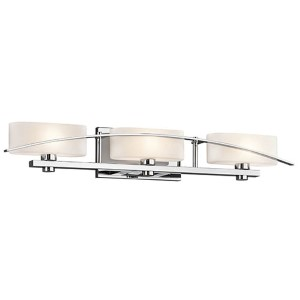 Suspension Chrome Three-Light Bath Vanity Fixture