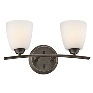 Granby Olde Bronze Two-Light Bath Fixture