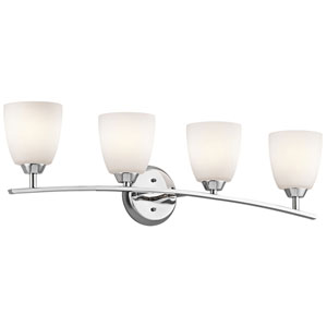 Granby Chrome Four-Light Wall Mounted Bath Fixture