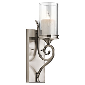 Lara Classic Pewter Wall Sconce