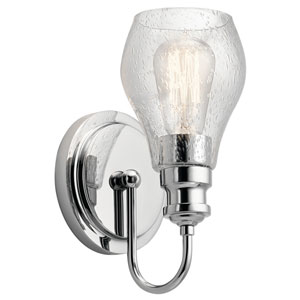 Greenbrier Chrome 6-Inch One-Light Wall Sconce