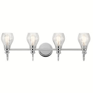 Greenbrier Chrome 33-Inch Four-Arm Bath Light